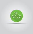 electric car isolated flat round icon vector image