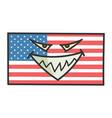 evil american flag cartoon vector image vector image