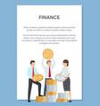 finance department poster vector image vector image