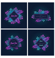 fluorescent gradient monstera palm tropic leaves vector image
