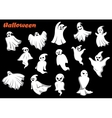 Flying Halloween monsters and ghosts vector image vector image