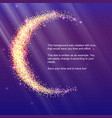 half moon from gold glittering star dust on vector image