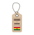 hang tag made in ghana with flag icon isolated on vector image vector image