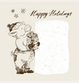 happy new year and merry christmas greeting card vector image vector image
