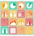 Icons set of business presentation charts and vector image