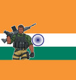 indian soldier background vector image