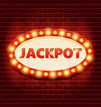 jackpot retro banner template with glowing vector image vector image