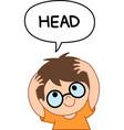 kid head vector image vector image