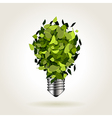 Light bulb of green leaves vector image vector image
