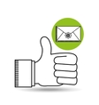 like email concept sms letter vector image