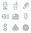 Line Icons Style Food Icons Set Design vector image