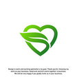 love green creative logo concepts nature heart vector image vector image