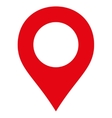 Map Marker flat red color icon vector image vector image