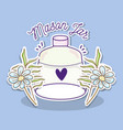 mason jar with flowers vector image vector image