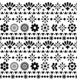 mexican seamless pattern with flowers vector image vector image