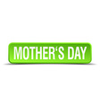 mothers day green 3d realistic square isolated vector image vector image