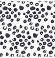 natural leopard skin pattern vector image vector image