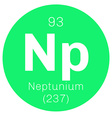 Neptunium chemical element vector image vector image