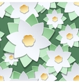 Paper cut flowers japanese style pattern vector image