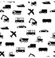 Pattern with transport vector image vector image