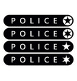 police label sticker emergency banner vector image vector image