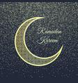 ramadan greeting card on dark-blue background vector image vector image