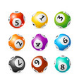 realistic detailed 3d lotto set vector image