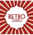 Retro label design vector image
