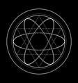 sacred geometry symbol energy vector image vector image