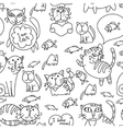 Seamless pattern of cute cats vector image vector image