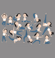 set exercises for body collection vector image