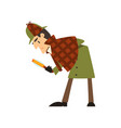 sherlock holmes detective character with vector image vector image
