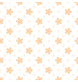 simple pattern with small scale blooming flowers vector image vector image
