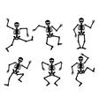 Skeletons dancing vector image vector image
