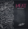 sketch gastronomic meat vector image