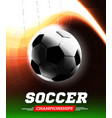 soccer or football ball in the backlight with a vector image vector image
