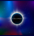 solar eclipse astronomy effect - sun eclipse vector image