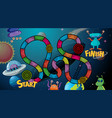 space and alien board game vector image vector image