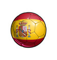 spanish flag football - soccer ball vector image vector image