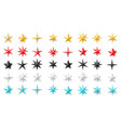 stars different geometric shapes metal foil vector image