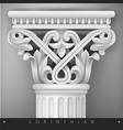 stone eastern column vector image vector image