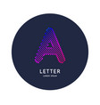 the letter a latin alphabet display vector image vector image