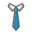 tie colorful line icon business and necktie vector image