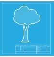 Tree sign White section of icon on vector image vector image