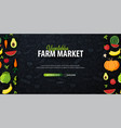 vegetables farm market hand-draw doodle vector image