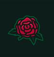 wild rose e sport logo icon vector image