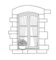 window with potflofer vector image vector image