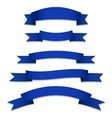 Blue Ribbons Flags vector image