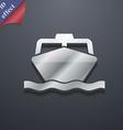 boat icon symbol 3D style Trendy modern design vector image