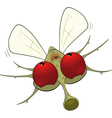 Little mosquito vector image